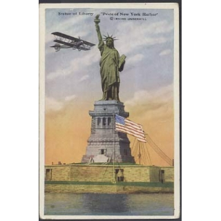 Statue of Liberty postcard with added ..