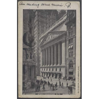New York Stock Exchange 1904 busy post..