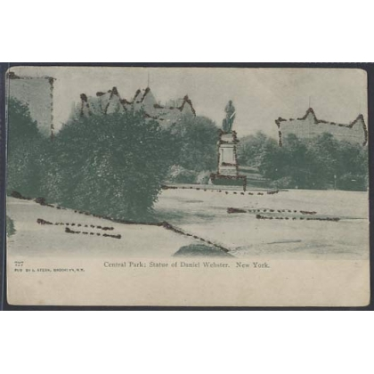 Central Park New York, undivided back glitter postcard
