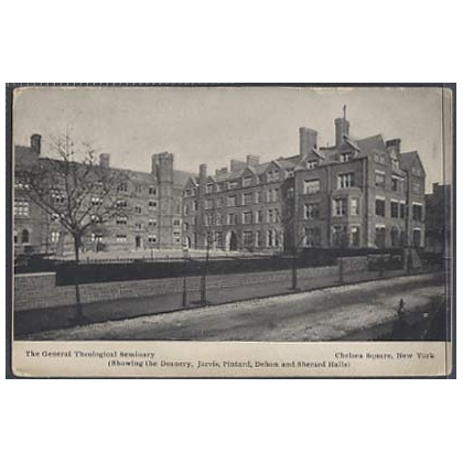 Theological Seminary Chelsea Square NY US postcard