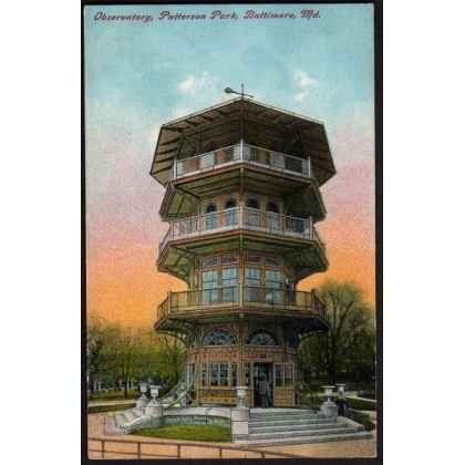 Patterson Park, Baltimore colour postcard