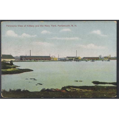 Kittery and Navy Yard, Portsmouth N.H. colour postcard