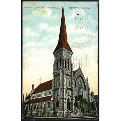 Christ Church Cathedral Ottawa Canada 1909 postcard