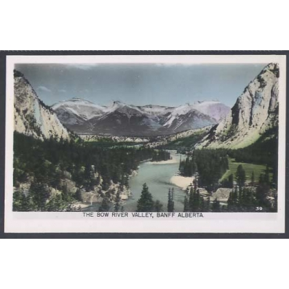 The Bow River Valley, Banff, Alberta,Canada postcard