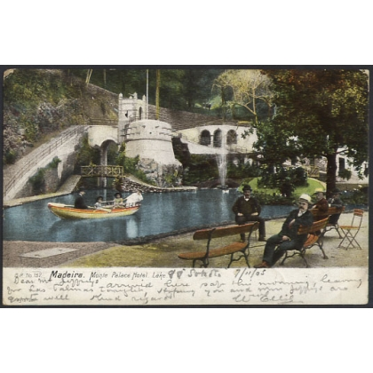 Madeira: Monte Palace Hotel Lake undivided back colour postcard