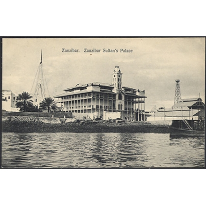 Zanzibar - Sultan's Palace, early postcard