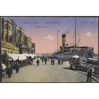 Turkey: Constantinople Galata Quay colour postcard