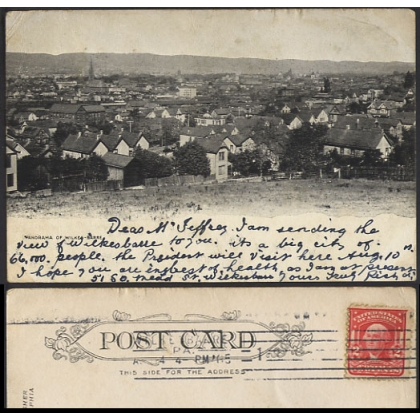 Panorama of Wilkes-Barre, PA, USA 1905 postcard