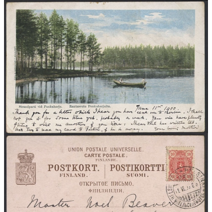 Finland: Punkaharju lakes view very early 1900