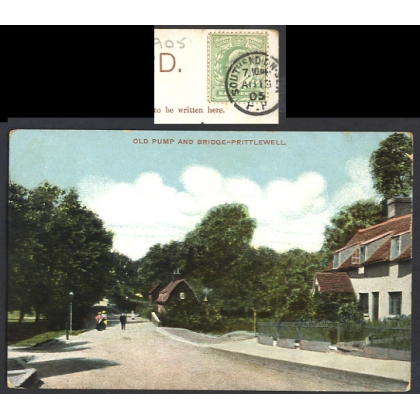 Prittlewell Old Pump & Bridge. Southend PP postmark