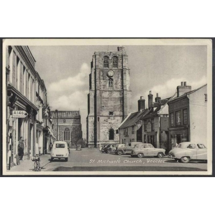 St Michaels Church, Beccles real photographic 1950s