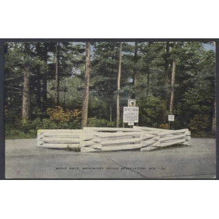 Menominee Reservation, Wis. USA postcard