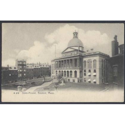 State House, Boston, Mass undivided back postcard