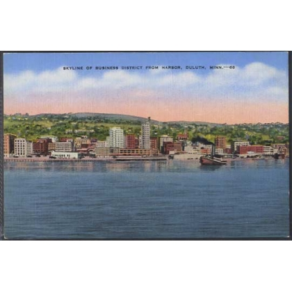 Duluth Skyline from Harbor, Minnesota