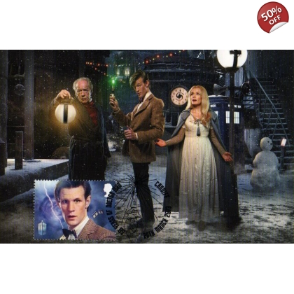 Dr Who Maximum card Matt Smith Smiler Christmas