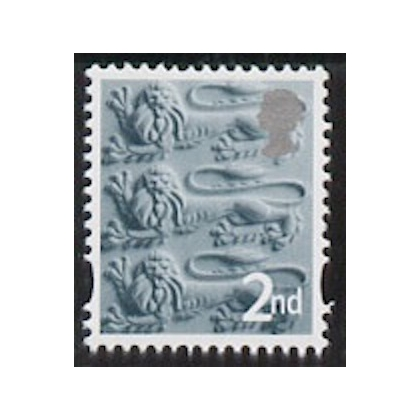 EN 6 2nd class England stamp with white border 2003