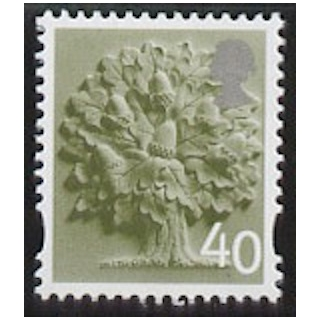 EN 9 40p England stamp with white bord..