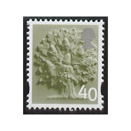 EN 9 40p England stamp with white border 2004