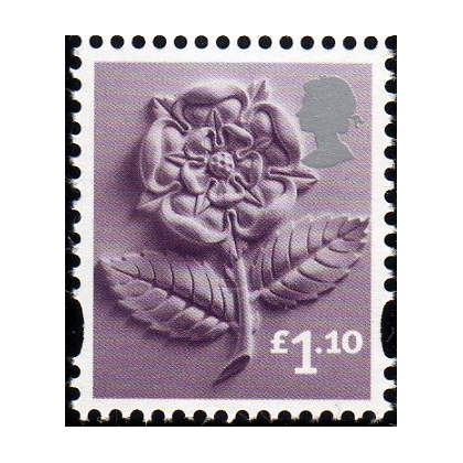 EN41  £1.10 England rose stamp issued 2011
