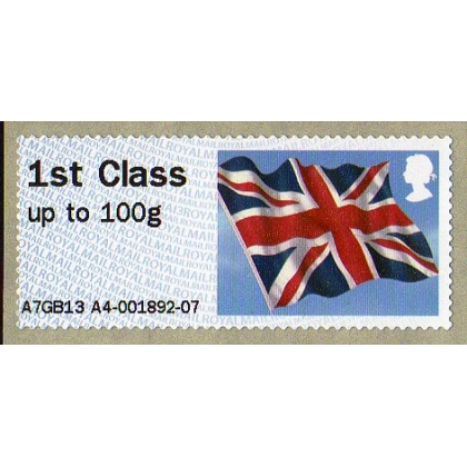 FS09h.3x Flag Faststamp MA13 set RMII machine Salisbury 2014