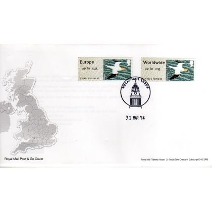 FS05-60F Birds 4 Faststamps NEW 60g rates on FDC