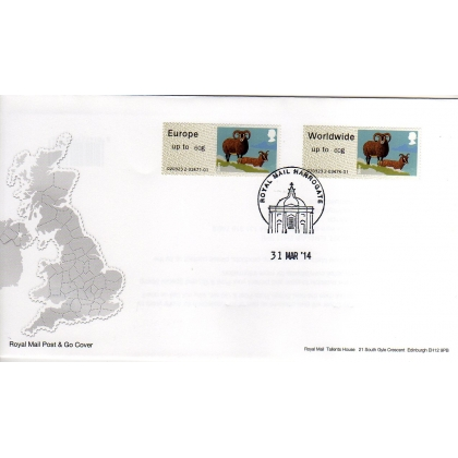 FS06-60F Sheep Faststamps NEW 60g rates on FDC