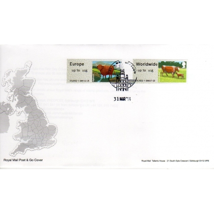 FS08-60F Cattle Faststamps NEW 60g rates on FDC