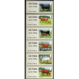 FS08n Cattle Faststamps 6 x 1st from W..
