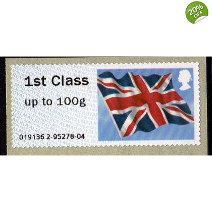 FS09 Union Flag 1st class Faststamp Wincor machine