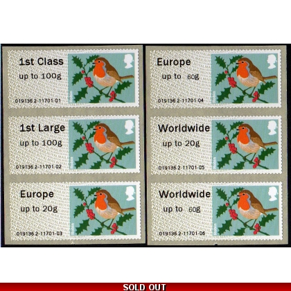 FS10-60cs Robin MA13 Faststamps 60g Collectors Set 2014