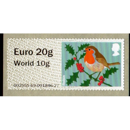 FS10n.3-97 Euro 20 / World 10 Robin NCR Faststamp NEW VALUE on MA13