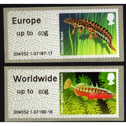 FS12-60 Ponds Faststamps 60g pair 2014