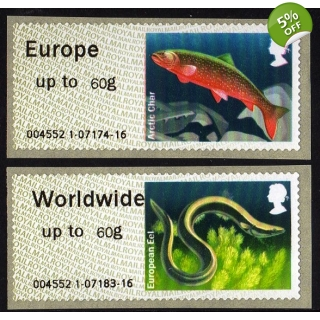 FS13-60 Lakes Faststamps 60g pair 2014