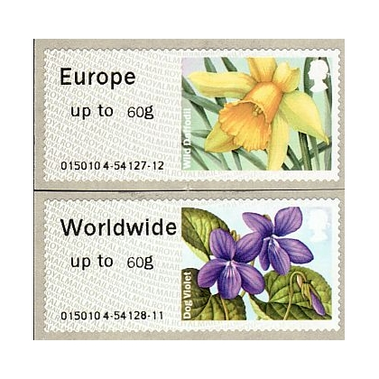 FS15-60 Spring Blooms 60g Faststamps pair 2014