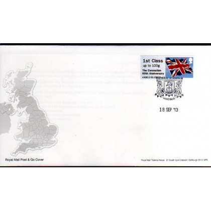 FT09bF Coronation 60th Ann 1st class Flag Faststamps FDC