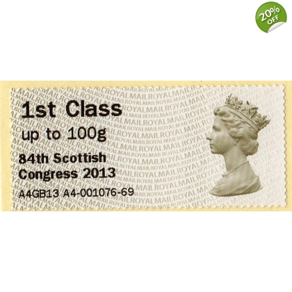 FV03a Perth Congress 1st class Machin Faststamp