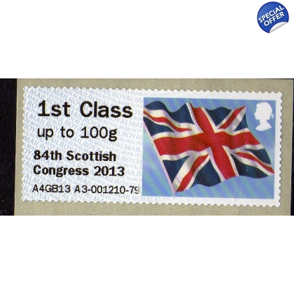 FV03b Union Flag Perth Congress Faststamp 1st class