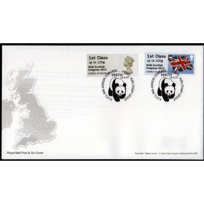 FV03F Perth Scottish Congress Faststamp pair FDC