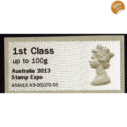 FV05a1 Australia 2013 Stamp Expo AU-Faststamps 1st class Machin