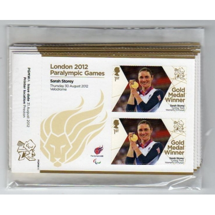 London 2012 Paralympic Gold Medal single mini-sheets