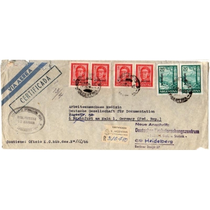Argentina Registered Official cover to Germany