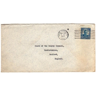 USA 1937 cover to England