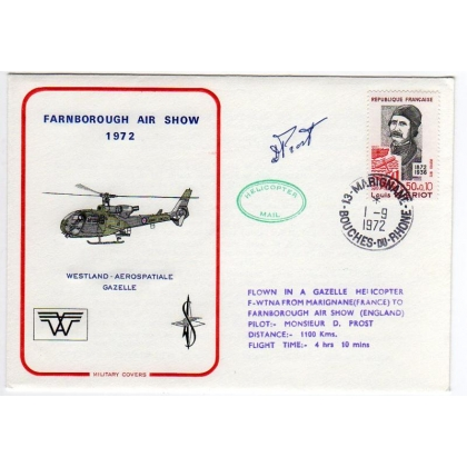France helicopter-flown commemorative cover for Farnborough Air show