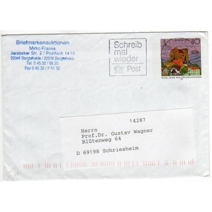 Germany postal stationery envelope 1998