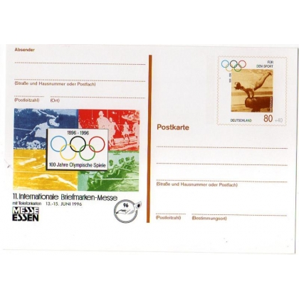 Germany Olympic postal stationery card 1996