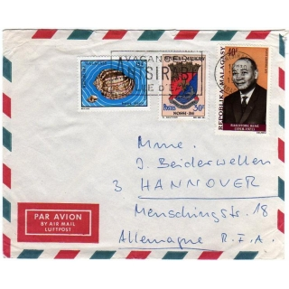 Malagasy Republic cover to Germany 1973