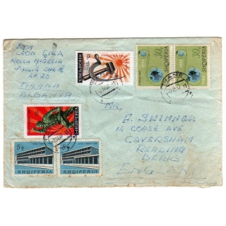 Albania 1967 cover to England