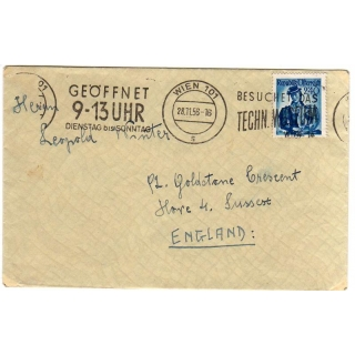 Austria 1956 cover to England