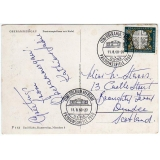 West Germany Oberammergau card to Scot..