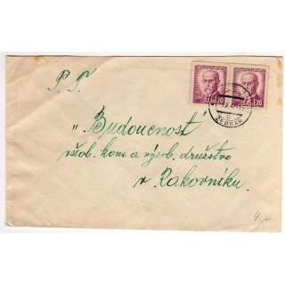 Czecholsovakia 1947 cover 2k40 rate